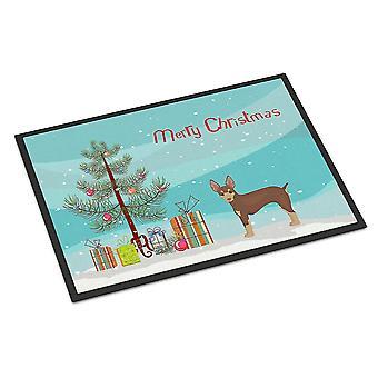 Door mats miniature fox terrier christmas tree indoor or outdoor mat 18x27