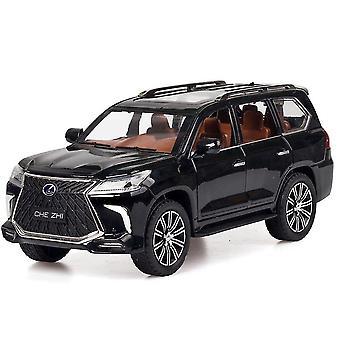 Toy cars 1: 24 lexus lx570 pull back alloy toy car black