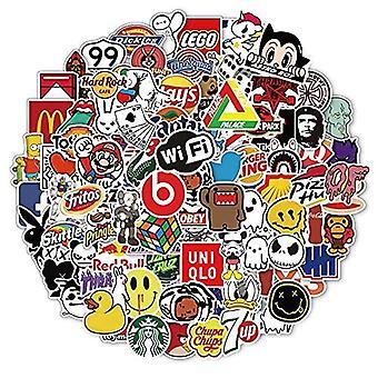ملصقات العلامة التجارية 100pcs، ملصقا أزياء الشارع، ملصقات الرسوم المتحركة الجمالية، ملصقات الفينيل الكتابة على الجدران للماء للأمتعة، لوح التزلج، دراجة، الغيتار
