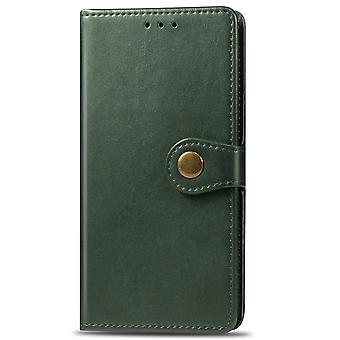 Coque pour Iphone 11 Etui Cover Retro Flip Wallet Pare-chocs magnétique Flip Pro Tective - Vert