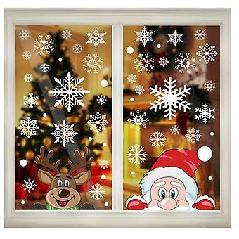 300 Pcs Santa Claus Window Stickers For Glass, Christmas Decorations