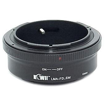 Kiwifotos objektív Mount Adapter: umožňuje Canon FD objektívy, ktoré majú byť použité na akomkoľvek Sony E-Mount fotoaparát telo-NEX-3, NEX-C3, NEX-F3, NEX-5, NEX-5N, NEX-5R, NEX-6, NEX-7