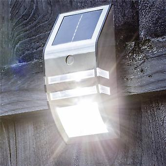 Hyfive seguridad Solar Motion Sensor LED luz de acero inoxidable de pared