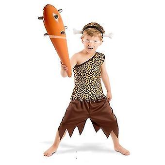 Idade da pedra homem primitivo traje crianças 3 peça traje de filhos do homem das cavernas