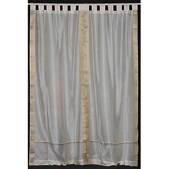 Crema scheda superiore Sari pura tenda / drappo / pannello - coppia