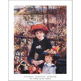 To søstre på terrassen c1881 Poster trykk av Pierre-Auguste Renoir (22 x 28)