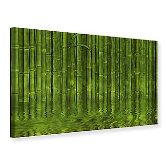Lona impresión agua reflexiones bambú