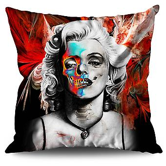 Skull Celebrity Linen Cushion 30cm x 30cm | Wellcoda
