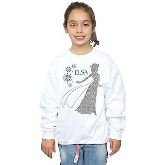 Disney flickor fryst Elsa Christmas siluett Sweatshirt