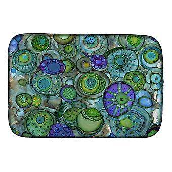 Carolines Treasures  8962DDM Abstract in Blues and Greens Dish Drying Mat