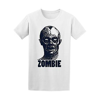 Hand-drawn Zombie Graphic Tee - Image by Shutterstock