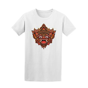 Traditional Ritual Balinese Mask Tee Men's -Image by Shutterstock