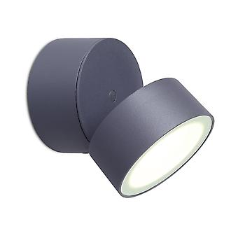 Lutec Trumpet 11W Exterior Single LED Wall Light In Graphite