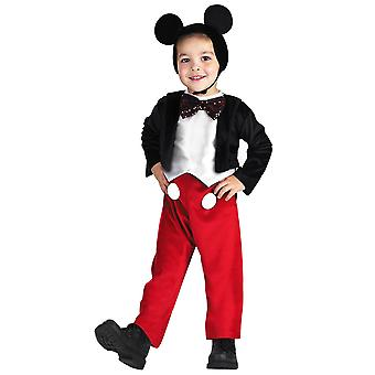 Mickey Mouse Deluxe Disney Junior Clubhouse Cartoon Toddler Boys Costume 3T-4T
