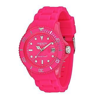 Candy tijd door Madison N.Y.. horloge unisex U4503-48-1 roze