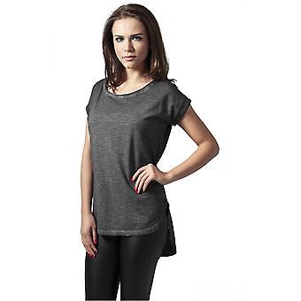 Urban klassikere dame T-Shirt lange tilbage formet spray farvestof