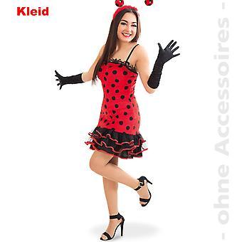 Ladybug kostyme damene dame tege dame tege Brummer bille Lady drakt