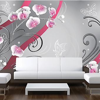 Wallpaper - Pink orchids - variation