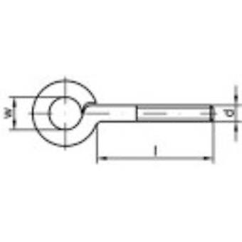 Ojales del hilo de rosca TOOLCRAFT tipo 48 (Ø x L) 10 x 70 mm electrocincados acero M6 100 PC