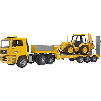 Brother MAN TGA low loader with JCB 4CX backhoe loader