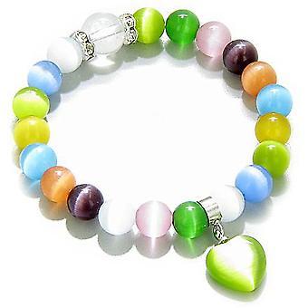 Swarovski Multicolor Cats Eye hart geluk Talisman armband