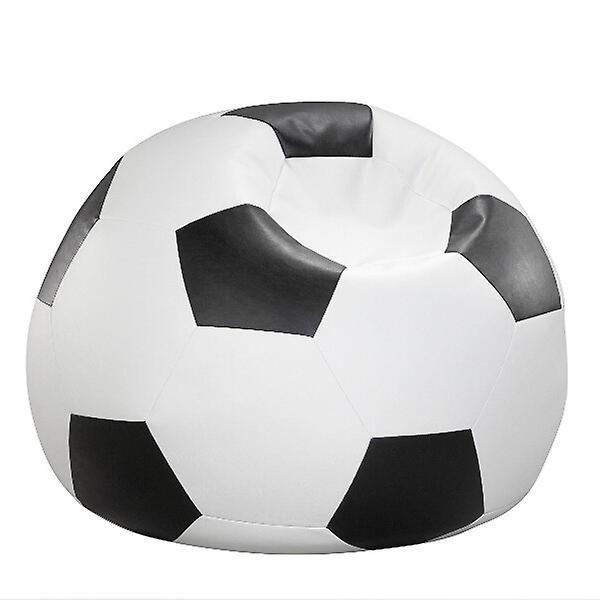 Bean bag coussin noir et blanc de football simili 90 x 90 x 90 cm