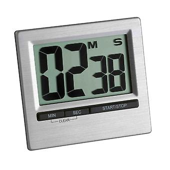 LCD Digital Large Easy Read Chromed Kitchen CountdownTimer