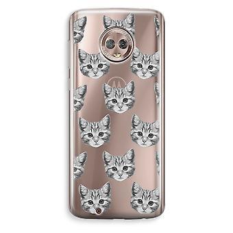 Motorola Moto G6 transparant Case (Soft) - Kitten