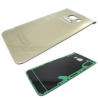 Genuine Samsung Galaxy S6 Edge Plus - SM-G928 - Back Cover with Adhesive - Gold - GH82-10336A