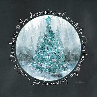 Hvid Jul plakat Print af Carol Robinson
