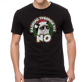 Grumpy Cat Dashing No Men's Black Funny T-shirt