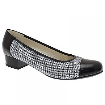 Alpina Women's 2 Tone Low Heel Court Shoe