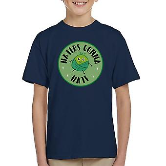 Natale Brussel Sprouts Haters andando a t odio shirt bambino
