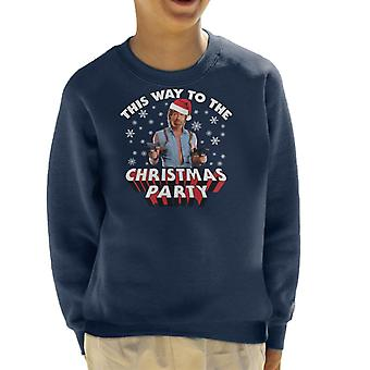 Chuck Norris This Way To The Christmas Party Kid's Sweatshirt