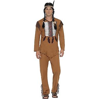 Native American Inspired Warrior Costume, XL