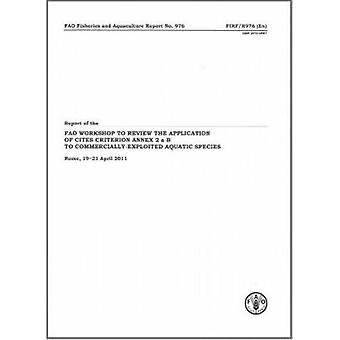 Verslag van de FAO-Workshop te herzien van de toepassingen van Cites Criter