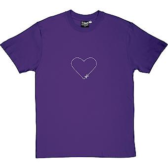 Cut-Out Heart Purple Men's T-Shirt