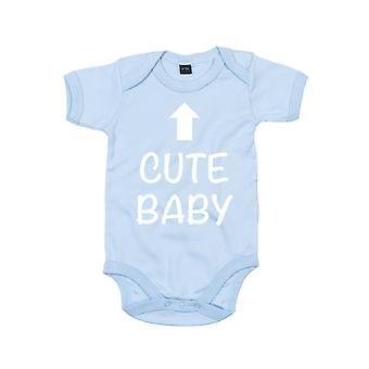 Carino bambino blu manica corta body bambino crescere