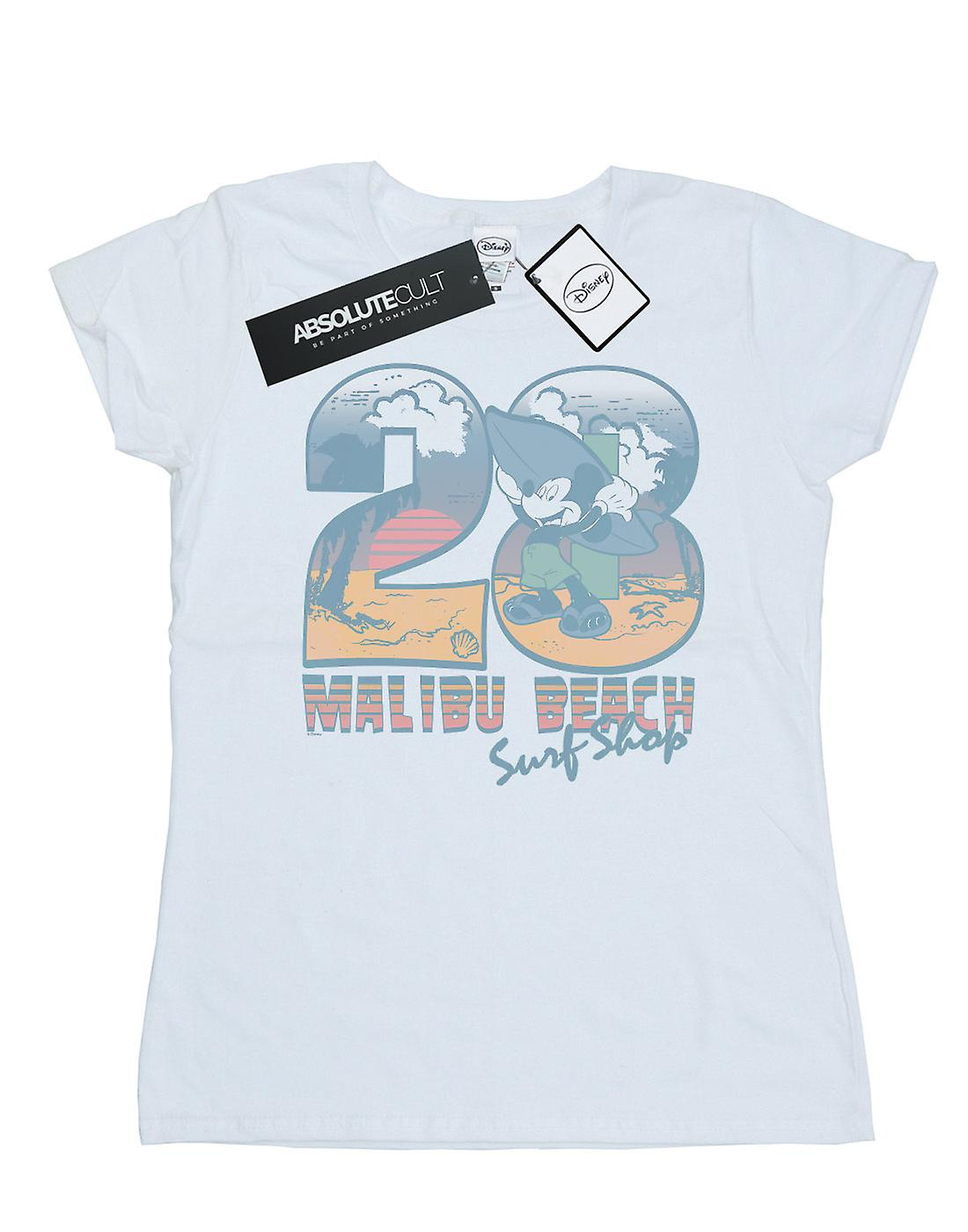 Disney Women's Mickey Mouse Surf Shop T-Shirt