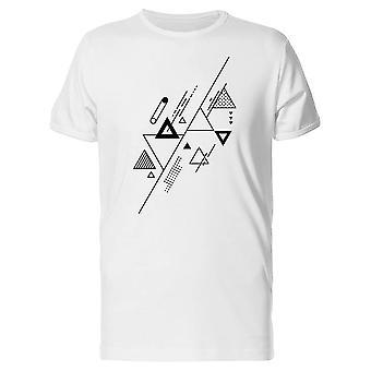 Triangles In Geometric Art Tee Men's -Image by Shutterstock