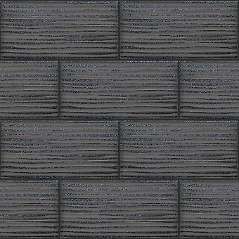 Wave tegel zwart behang Brick Glitter badkamer keuken reliëf Vinyl Holden