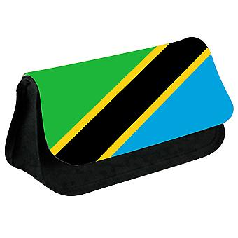 Tanzania Flag Printed Design Pencil Case for Stationary/Cosmetic - 0174 (Black) by i-Tronixs