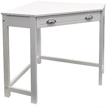 Haven - kompakte hölzerne Ecke Computertisch / Dressing Table / Craft Workstation - weiß