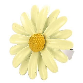 White Tin Alloy Daisy Ring