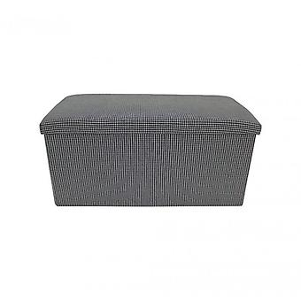 Meubilair Rebecca Puff container Puffo wit wit Baule stof kamer 38x76x38