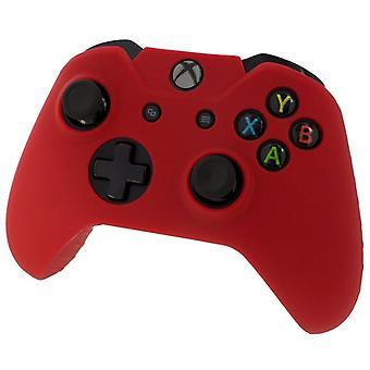 Assecure pro piel agarre cubierta protectora goma tope funda de silicona roja una Xbox