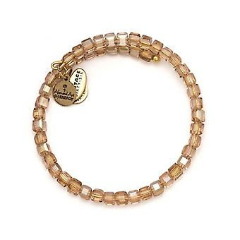 Alex et Ani blush Starry-Eyed Wrap bracelet en or VW364RG