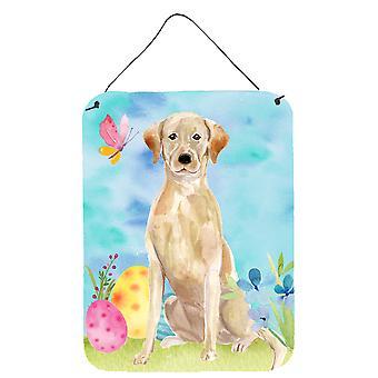 Gele Labrador Pasen muur of deur opknoping prints
