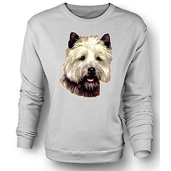Mens Sweatshirt Cairn Terrier Pet - Dog