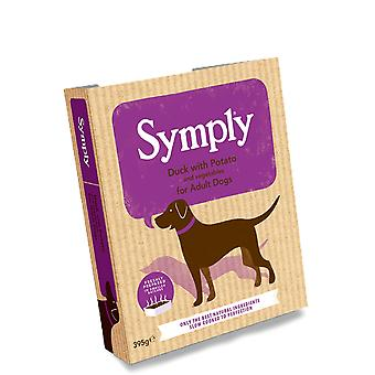 Symply canard avec des pommes de terre pour adulte chiens 395g humide plateaux - Pack unique
